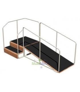 Rampa con escalera angular