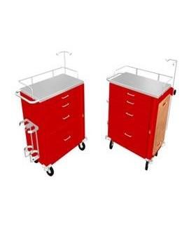 Carro rojo c/4 cajones tabla y portasuero (sin equipo)