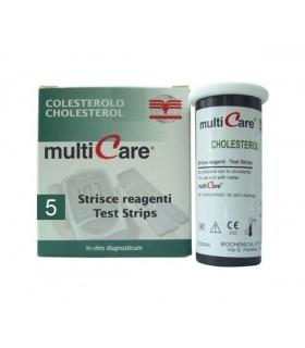 Tiras reactivas Multicare para colesterol