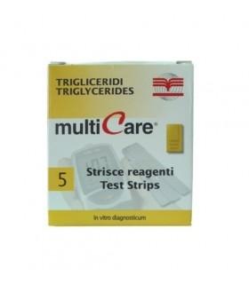 Tiras reactivas Multicare para trigliceridos